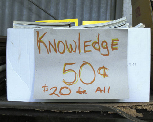 Knowledge for Sale!